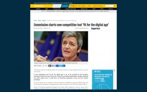 Commission charts new competition tool 'fit for the digital age'
