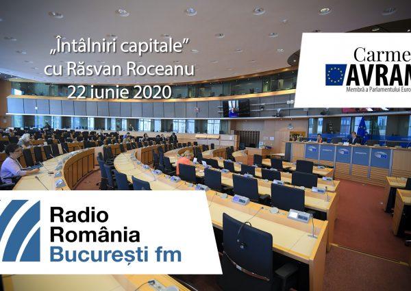 """Înregistrarea emisiunii """"Întâlniri capitale"""" cu Răsvan Roceanu, de pe postul radio București FM, din 22 iunie 2020."""