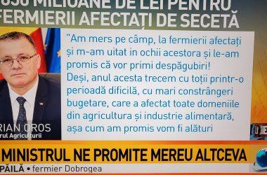 În curând, agerul Oros o să se uite în ochii celor care o să preia gratis fermele româneşti falimentare şi o să-i felicite înlăcrimat că au salvat România de la foamete.