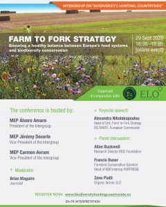 Farm to Fork Strategy: Ensuring a healthy balance between Europe's food systems and biodiversity conservation