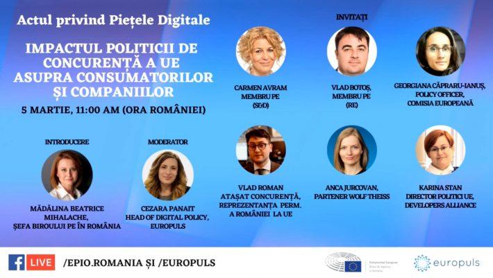 Actul legislativ privind Piețele Digitale - Impactul politicii de concurență a UE asupra consumatorilor și companiilor