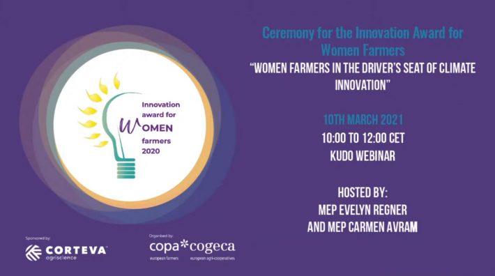 Premiul în inovare dedicat femeilor din mediul rural, ediția2021 - Nazaret Mateos Alvarez din Spania și Immacolata Migliaccio din Italia câștigă a 6-a ediție